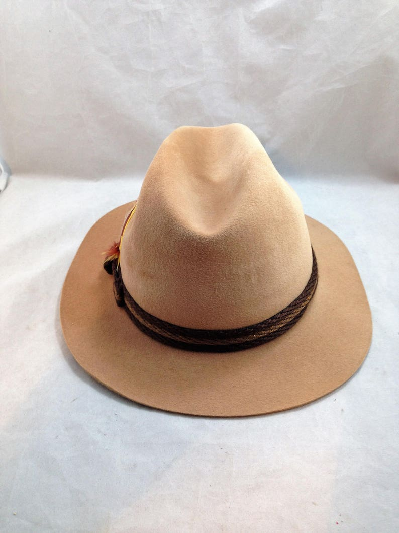 f32cc1f1 Vintage Stetson Fedora Sovereign Camel Color with 2-Tone | Etsy