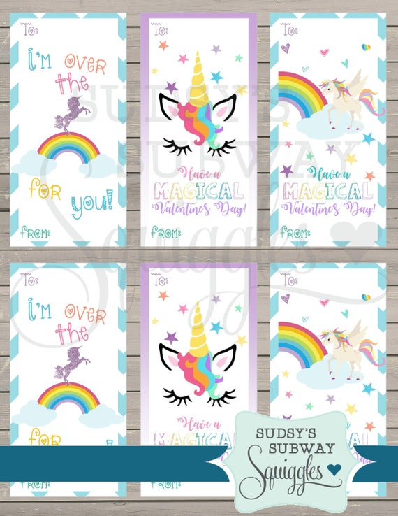 It's just an image of Witty Free Printable Unicorn Valentines