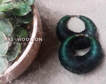 EAR WEIGHTS | forest green + black | 100% handmade | gauges | piercing |