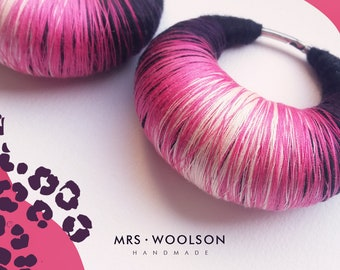 Pink Panther  |  EAR WEIGHTS - pair | ear plugs for gauges | 100% handmade