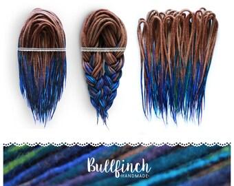 Wool dreadlocks | CHOOSE AMOUNT | Deep sea turquoise | festival | tribal dreads
