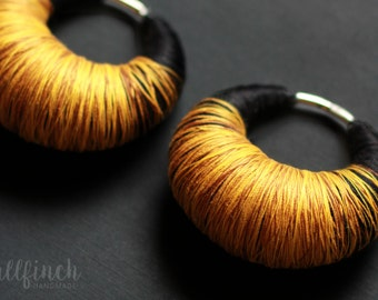 Ear weights, perfect for tunnels & plugs | black-yellow/gold