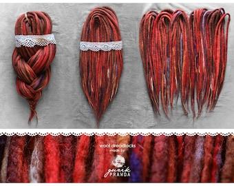 Wool dreadlocks | dread extensions | dreadlocks | dreads | handmade woolies | CHOOSE AMOUNT
