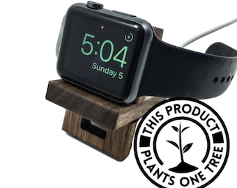 Apple watch stand Apple watch dock wood apple watch band strap 44mm 42mm 40mm 38mm valentines day gift for him/her series 4 series 5