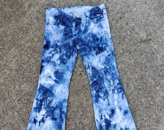 Tie Dye Women's Denim Jeans , Upcycled Women's Tie Dye Jeans , Festival Jeans , Hippie Jeans , Festival Attire , Woodstock Denim , Boho Jean