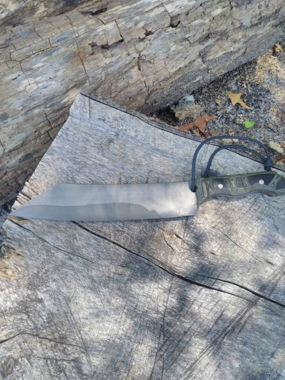 Competition Chopper, stealth chopper, tactical chopper knife, survival knife, hand forged chopper