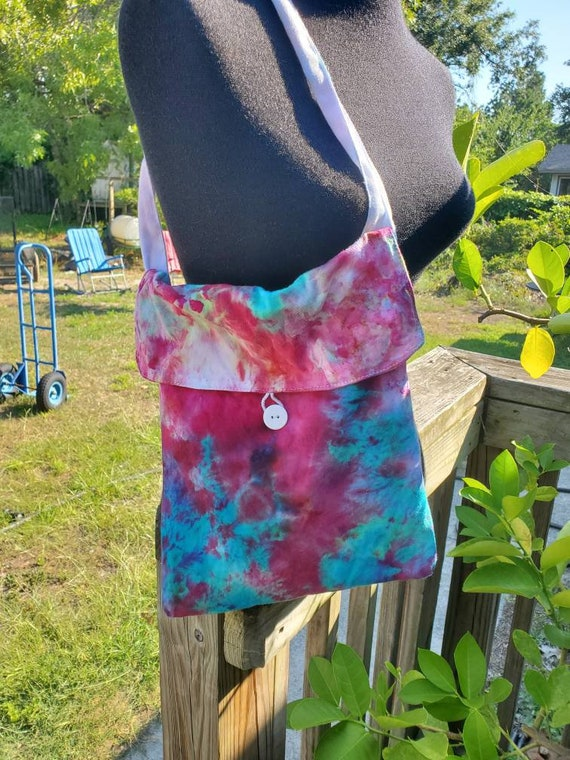 Tie Dye Bag, Tie Dye Tote, Tie Dye Purse, Tie Dye Gift, Tie Dye Satchel, Tie Dye Crossbody Bag, Tie Dye Handbag, One of a kind, Teen Gift