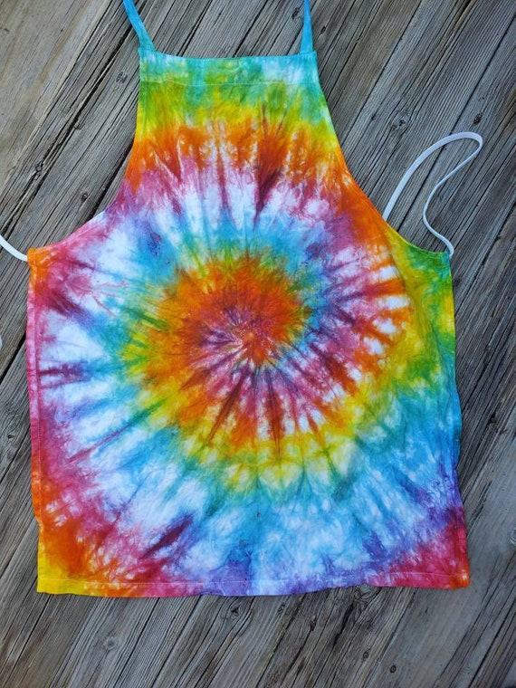 Tie Dye Apron, Tie Dye Craft Apron, Tie Dye Kitchen Apron, Waitress Apron, Tie Dye Cooking Apron, Chef Apron, Kitchen Apron
