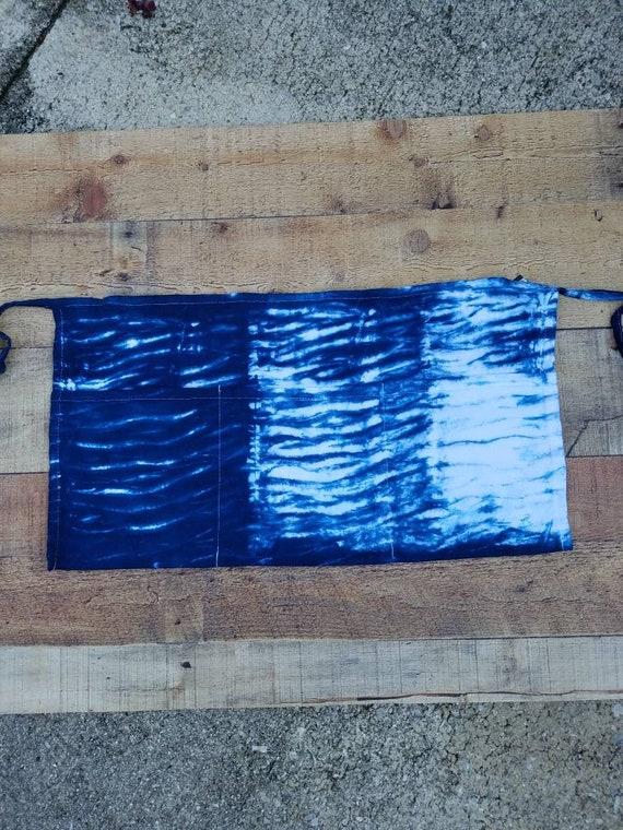 Tie Dye Waist Apron, Tie Dye Vendor Apron, Tie Dye Craft Apron, Tie Dye Money Apron, Server  Apron, Tool Apron, Half Apron, Waitress Apron