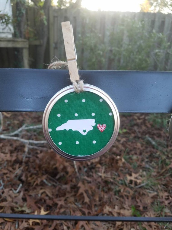 North Carolina Ornament ,  Christmas Ornament , NC Christmas Ornament ,