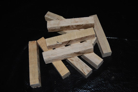 "Spalted Maple pen turning blanks, 1"" X 1"" X 6"", wood working supplies, wood turning supplies"