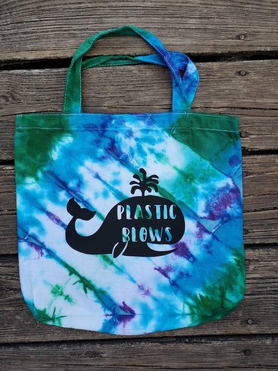 Hand Dyed Tote Bag, Tie Dye Tote, Tie Dye Market Bag, Plastic Blows, Women's Eco-Friendly, Tie Dye Beach Bag, Gift Bag, Shopping Bag