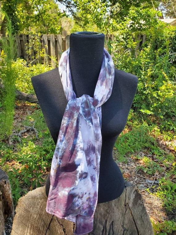 Tie Dye Scarf, Tie Dye Wrap, Tie Dye Accessory, Tie Dye Fabric, Summer Scarf