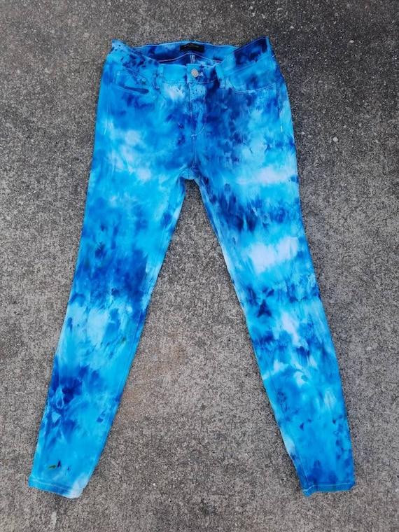 Boho Jean Woodstock Denim Upcycled Women/'s Tie Dye Jeans Tie Dye Women/'s Denim Jeans Festival Attire Hippie Jeans Festival Jeans