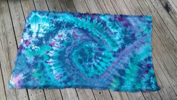 Tie Dye Baby Blanket, Tie Dye Baby Gift, Tie Dye Throw Rug, Tie Dye Tapestry, Tie Dye Wall Hanging, Tie Dye Mat, Tie Dye Monk Cloth