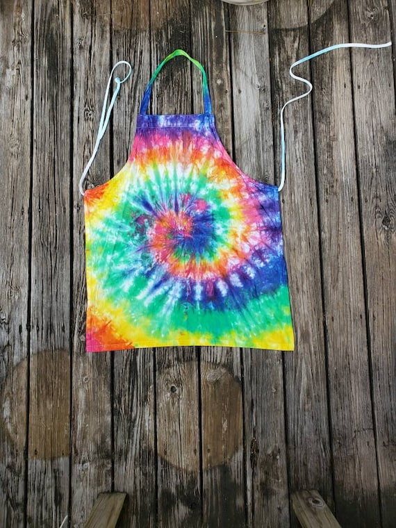 Tie Dye Apron, Tie Dye Craft Apron, Tie Dye Kitchen Apron, Waitress Apron, Tie Dye Cooking Apron, Chef Apron, Kitchen Apron