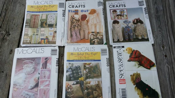 Set Of Sewing Patterns Craft Patterns McCalls Patterns Etsy Adorable Mccalls Craft Patterns