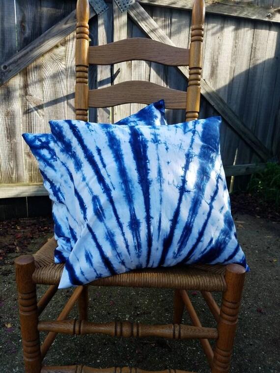Tie Dye Pillow Tie Dye Sham Shibori Pillow Shibori Sham Tie Dye Decorative Pillow  Tie Dye Gift Tie Dye Decor