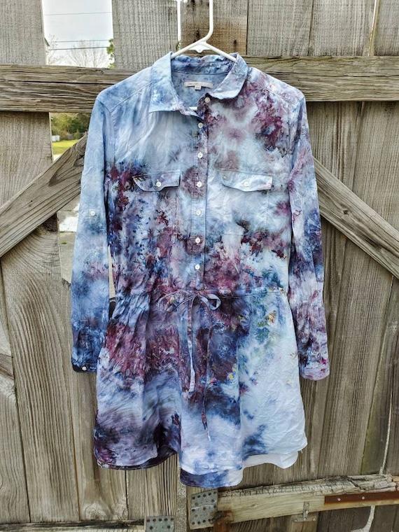 Tie Dye Dress , Upcycled Tie Dye Dress , Festival Dress , Woodstock Dress , One of a Kind Dress ,  Boho Dress  Hippie Dress