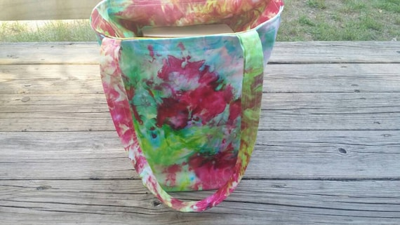 SALE Hand Dyed Tote Bag, Tie Dye Tote, Tie Dye Market Bag, Tie Dye School Tote, Women's Handbags, Tie Dye Beach Bag, Gift Bag, Shopping Bag