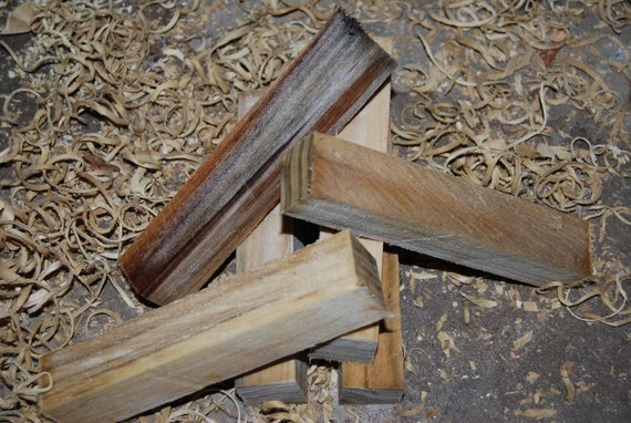 Reclaimed  Spalted Sweet Gum pen turning blanks, 1 inch by 1 inch by 6 inches, turning supplies, wood craft.