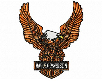 Personalized embroidery, Embroidery design,Motor cycles,Harley Davidson, HD logo,embroidery,pes brother,brother pes,bagging,sackcloth,gift