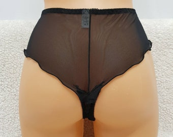 Mesh panties,black mesh,see through,thongs,lingerie set,plus size,ladies underwear,Honeymoon,vintage lingerie,woman lingerie,sexy lingerie