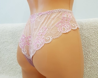 Pink intim, crotchless panties,lace,high waist,wedding,shorts,lace panties,sexy lingerie woman,night thong,underwear,pink dreams, sexy pink