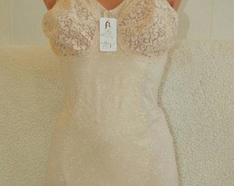 Handmade night wear in beige colour. Body for ladies.