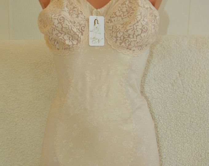 Handmade night wear in beige colour. Body for ladies.