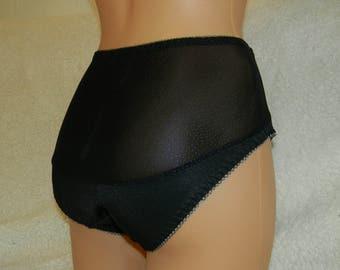Capron,high waist lingerie,plus size panties,handmade panties,lingerie cross dressing,bbw woman,capron lingerie,lace underwear,clear,limpid