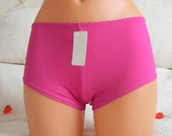 Handmade,panties,plus size,lingerie,beach shorts,crotchless,ladies,hot pink,honeymoon,vintage,gift for her,underwear,bridal lingerie,women