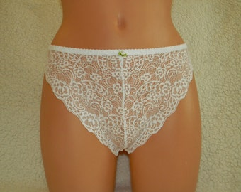 Handmade,crotchless,white lace,thong,wedding,lace thong,lace panties,night thong,white flowers,pattern,sexy lingerie,woman,wedding lingerie