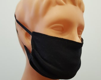 Handmade Black face mask, cotton, one size, different colors, custom request