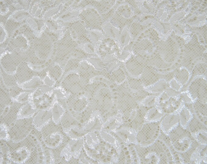 For bra or panties lace, elastic white color lace, elastic lingerie lace, wide lace