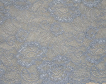 For decor stretch lace, elastic blue color lace, elastic lingerie lace, wide lace