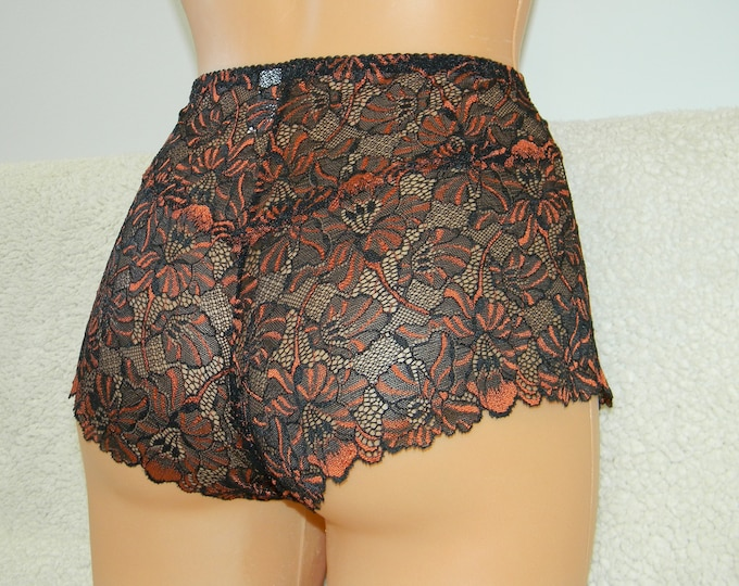 black&orange lace,crotchless panties,lace thong,wedding,shorts,lace panties,sexy lingerie woman,night thong,flowers pattern,open crotch,lace