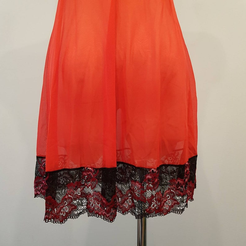 red Lace night wear sleep wear Night dress red Lingerie,night lingerie comfortable Under Skirt Vintage Pajamas Nightie NightWear