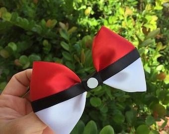 Pokemon pokeball hairbow