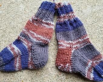 Items similar to Hand-knitted baby socks, newborn 0