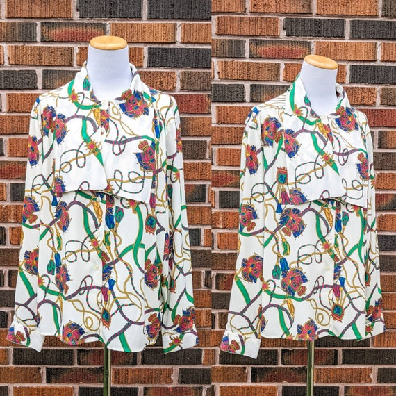 FREE SHIPPING - Vintage 1980's Versace Inspired Pa
