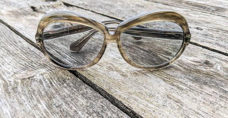 Made in France Vintage 1970/'s Sol Amor Big Lenses Gray Sunglasses