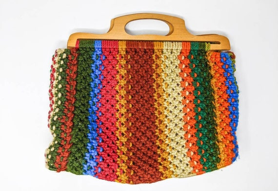 FREE SHIPPING - Vintage 1960's Colourful, Rainbow,