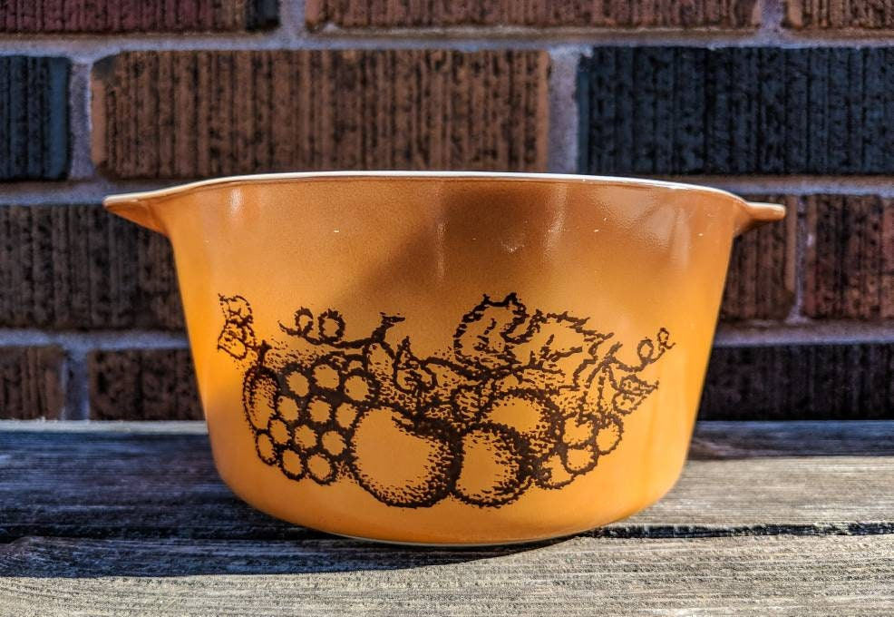 1960\'s Pyrex Old Orchard Mixing Bowl - Cookware Vintage Pyrex ...
