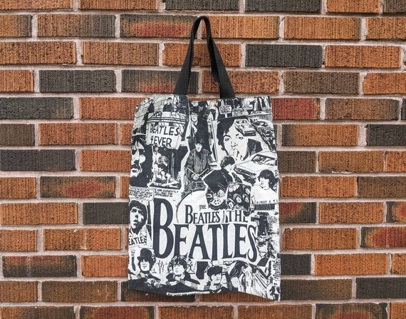 FREE SHIPPING - The Beatles Black and White Newspa