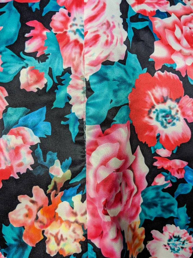 Gorgeous Vintage Floral Blazer from the 80/'s Floral Jacket Size L Soft Fabric and Warm Colors