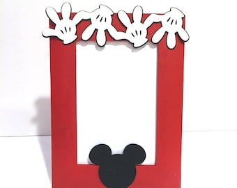 Mickey Mouse Inspired Picture Frame, Mickey Mouse Inspired Birthday Party,  Personalized Optional
