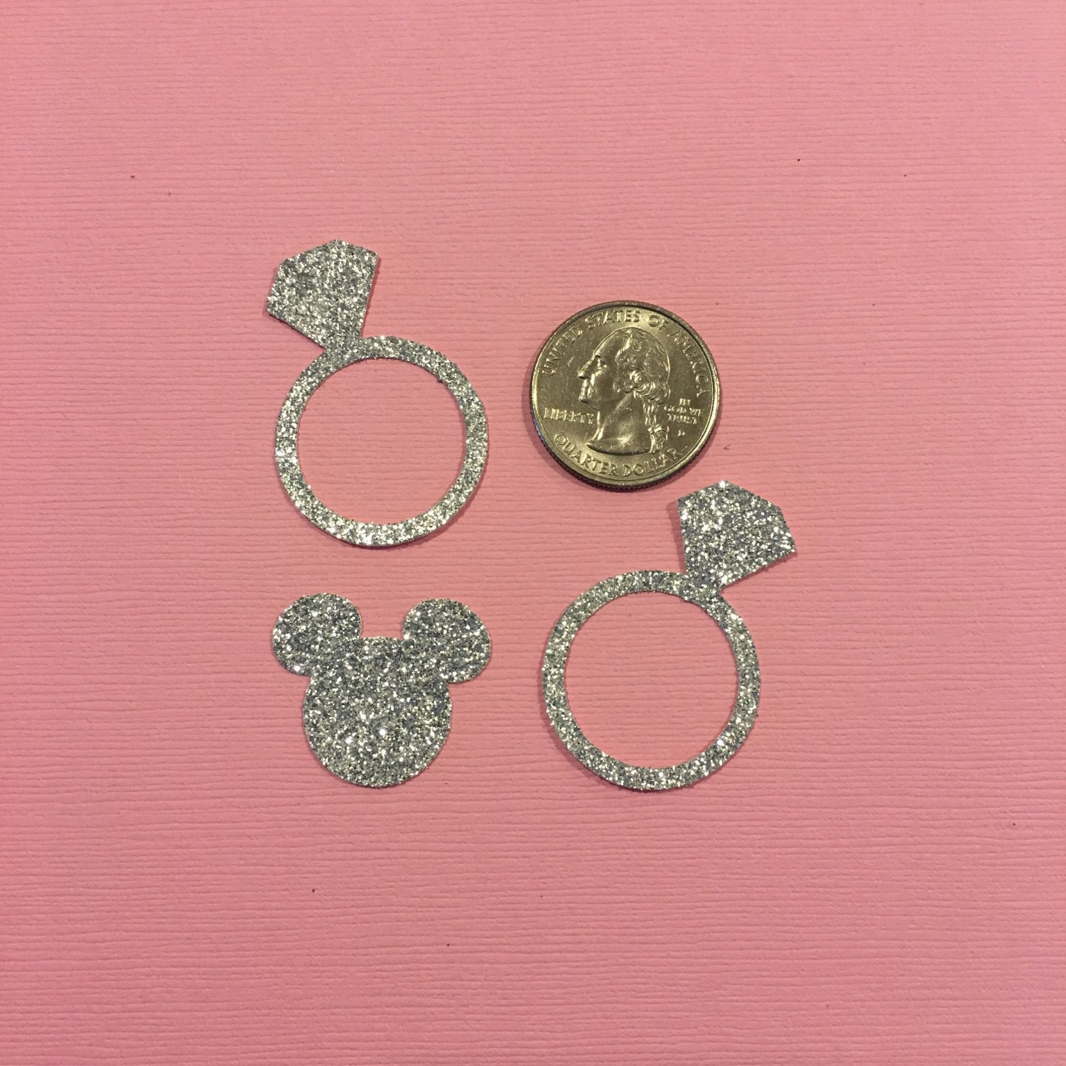 Minnie Mouse Inspired Wedding Confetti - Diamond Rings Minnie Mouse ...