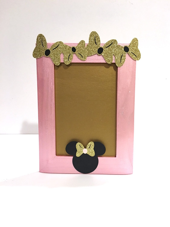 Minnie Maus inspiriert Bilderrahmen Gold und rosa Minnie | Etsy