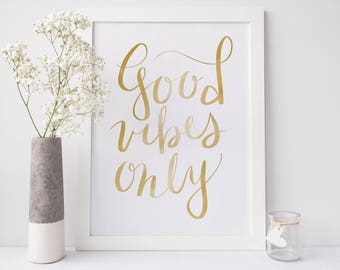 Good Vibes Wall Art Etsy